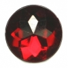 Acrylic 18mm Round Facetted Ruby